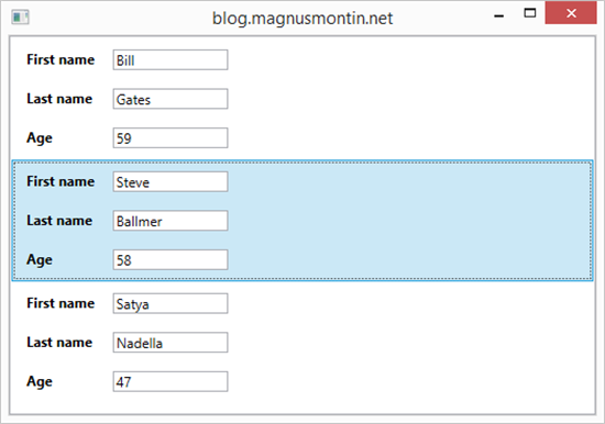 Tabbing between items in a ListBox in WPF | Magnus Montin